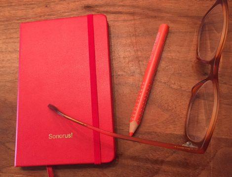 Der neue Kalender für 19, Lieblingsstift im Wortladen und die Brille von Andrea Görsch sind zu sehen.