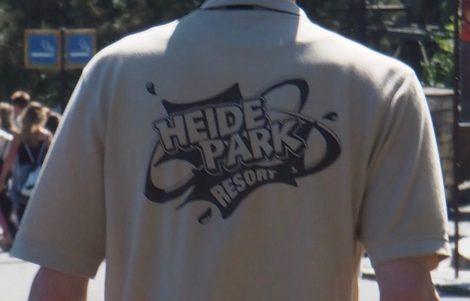 T-Shirt mit dem einfarbigen Logo des Heide-Parks