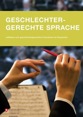 Auf dem Bild ist das Cover des Leitfadens Geschlechtergerechte Sprache zu sehen.