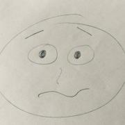 Ein Smiley, gezeichnet während meines ersten digitalen Barcamps