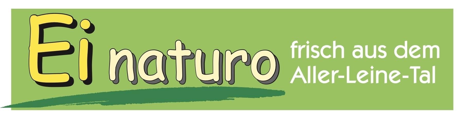 """Grafische Umsetzung des Slogans: """"frisch aus dem Aller-Leine-Tal"""" und des Markennamens: Ei naturo"""
